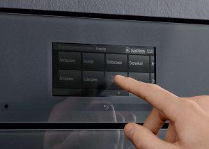 De Miele Artline oven wordt bediend door middel van de DirectSensor-bediening.